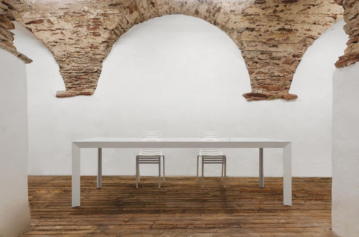 Nile Tavolo Rettangolare Grande Per Soggiorni Tavolo Con Struttura  #4A3320 1200 793 Dimensioni Standard Sala Da Pranzo