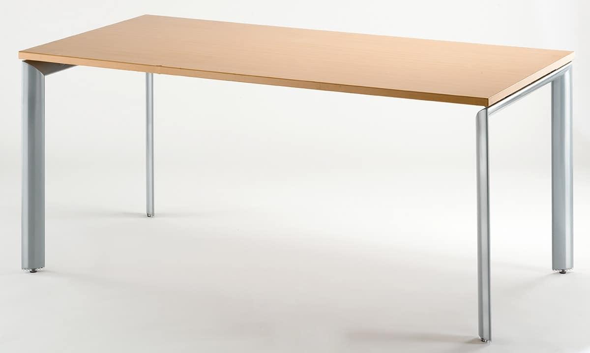 Tavolo da pranzo rettangolare con piano in legno idfdesign - Tavoli da cucina design ...