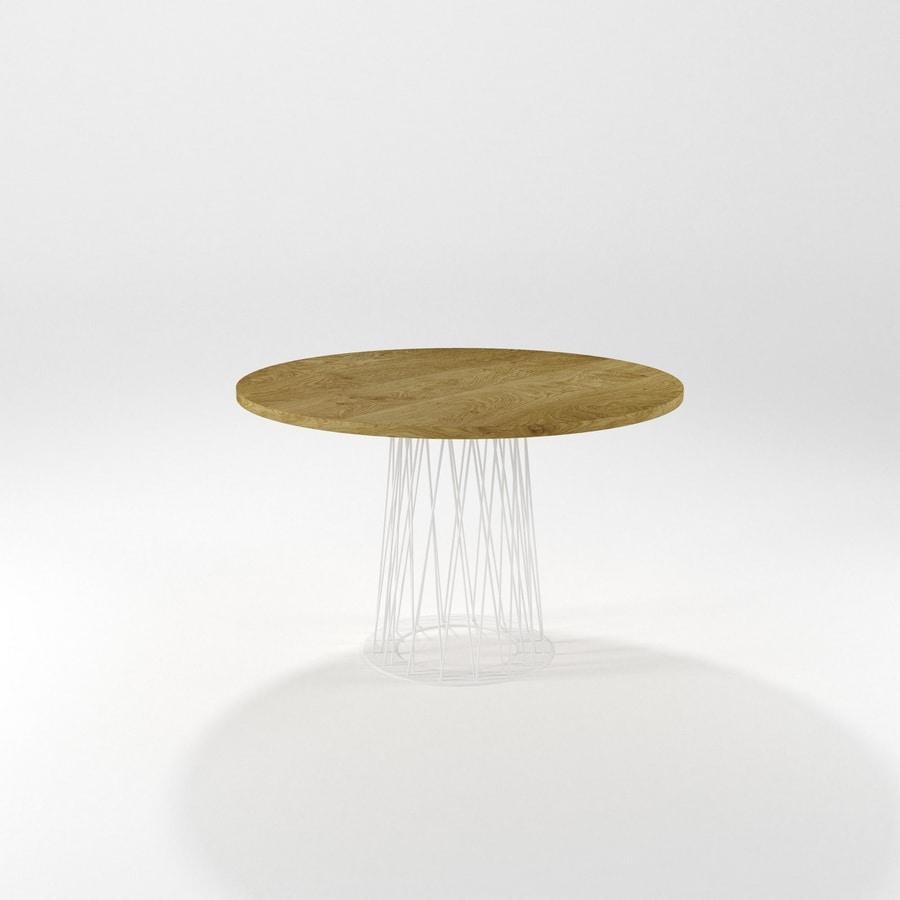 Roncisvalle, Tavolo da pranzo ovale con base in ferro