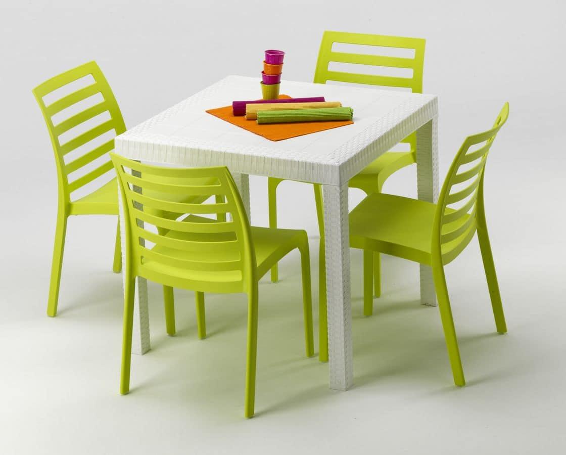 Set Tavolo E Sedie Da Giardino Tavolo Quadrato Per Esterni #BD6E0E 1120 900 Set Tavolo E Sedie Da Giardino In Resina