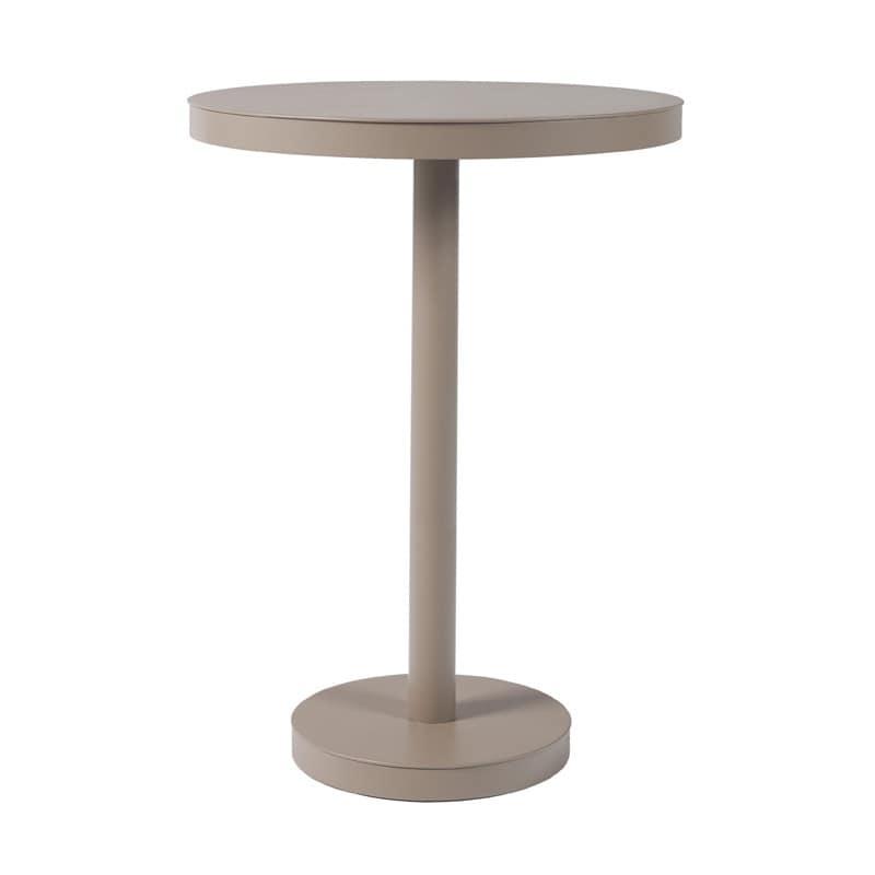 Tavolo anti intemperie alto in alluminio per bar for Tavoli alti design