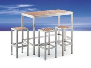 Immagine di BAVARIA 874 tavolo bar grande, tavolo da esterno