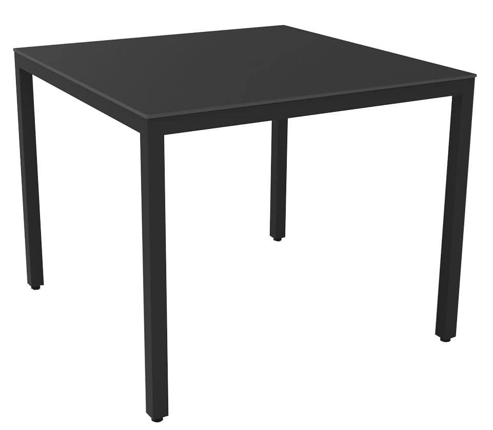 Tavolo quadrato metallo plastica ideale per ambienti for Tavolo 40x40