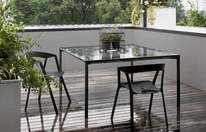 Boiacca square, Tavolo quadrato fatto in cemento, per esterni