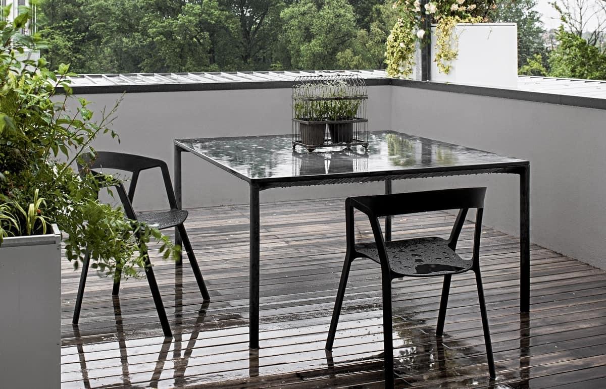 Tavoli Da Esterno In Cemento.Tavolo Quadrato Fatto In Cemento Per Esterni Idfdesign
