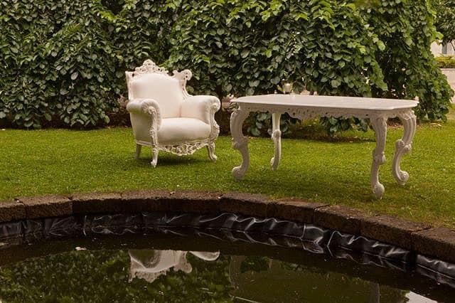 Tavoli Da Pranzo Per Esterni.Tavolo Da Pranzo In Legno Stile Barocco Per Esterno Idfdesign