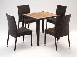 FT 2025.80 - London, Set arredo con gamba conica, per esterno e terrazza