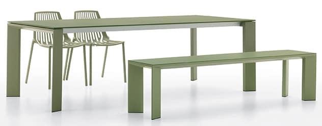 Tavoli In Alluminio Da Esterno.Tavolo Rettangolare In Alluminio Verniciato Per Esterni Idfdesign