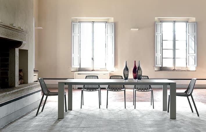 Tavolo rettangolare in alluminio verniciato per esterni - Tavoli in alluminio per esterni ...