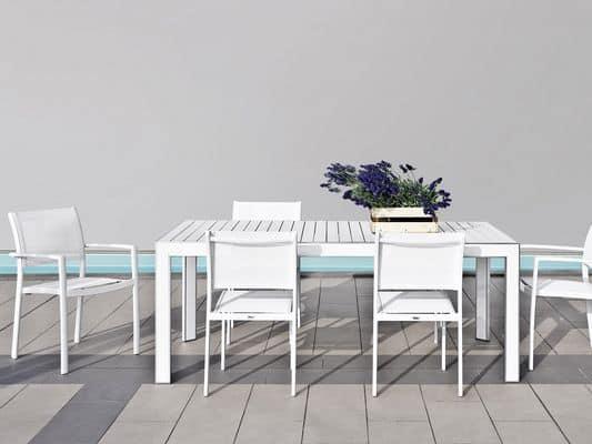 Tavoli da esterno arredamento giardino tavoli plaza for Tavolo esterno 80x80