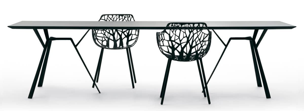 Tavolo in alluminio base con 6 gambe per esterni idfdesign - Tavolo con radice ...
