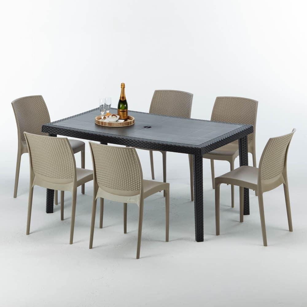 Sedie E Tavoli Giardino.Tavolo Per Esterni Di Alta Qualita Componibile Idfdesign