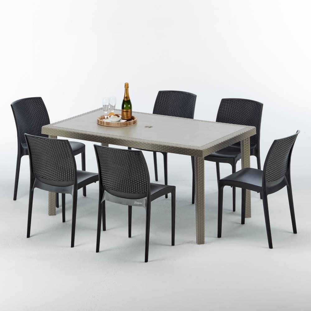 Tavoli In Finto Rattan.Tavolo Rettangolare In Rattan Elegante E Durevole Idfdesign