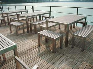 Immagine di SET BAVARIA 667/T tavolo, tavoli inossidabili