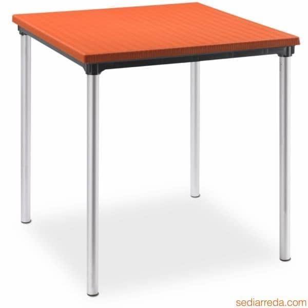 Sovrapponibil, Tavolo da giardino in alluminio e polipropilene, impilabile