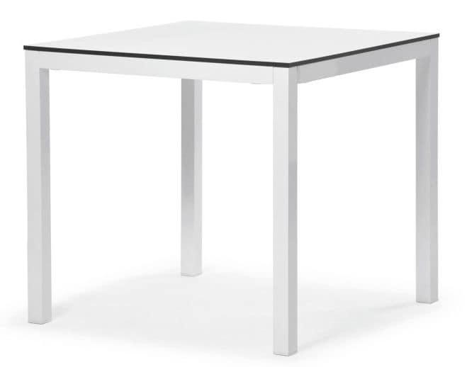 Tavolo in alluminio ideale per bar e ristoranti idfdesign - Tavoli in alluminio per esterni ...