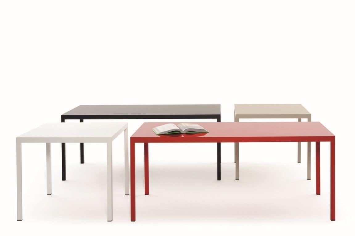 Piani Tavoli Per Esterno.Tavolo Con Struttura In Alluminio Piano In Hpl O In Vetro