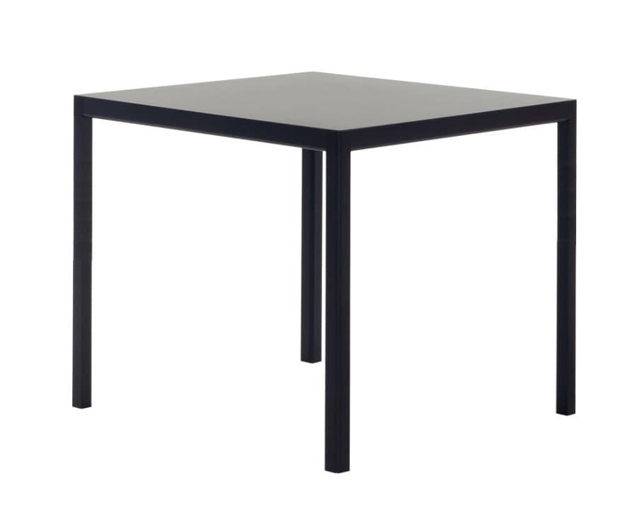Tavolo con struttura in alluminio piano in hpl o in vetro for Tavolo hpl