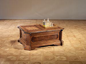 Art. 820 tavolino da gioco, Tavolino con scacchiera e vano porta bottiglie