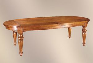 193, Tavolo ovale con gambe tornite
