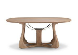 6104 Arpa, Elegante tavolo da pranzo ovale
