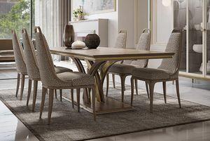 Alexander Art. A06, Lussuoso tavolo da pranzo rettangolare