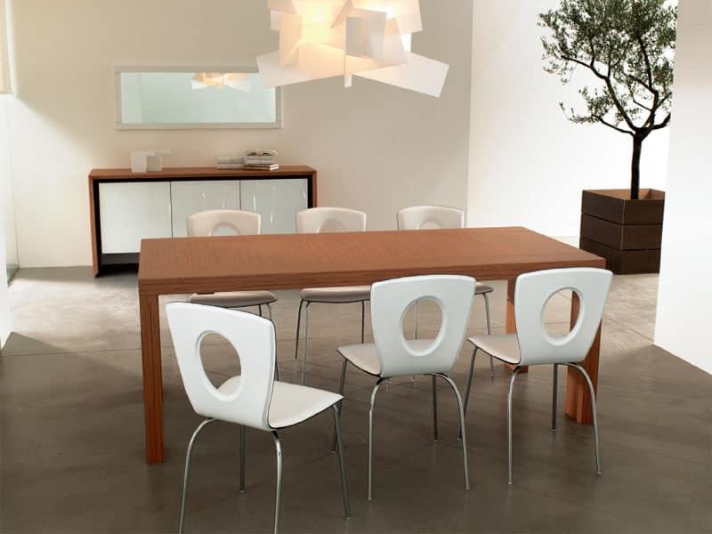Tavolo in legno salotto idfdesign for Tavoli da pranzo in legno