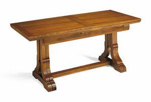 Art. 49, Tavolo  allungabile in legno, stile tradizionale