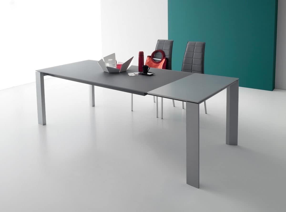 Tavolo salvaspazio in legno e vetro per cucina moderna for Imitazione poltrone design