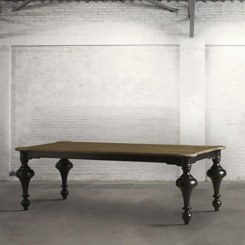 Tavolo classico contemporaneo con piano rettangolare in - Tavolo contemporaneo ...