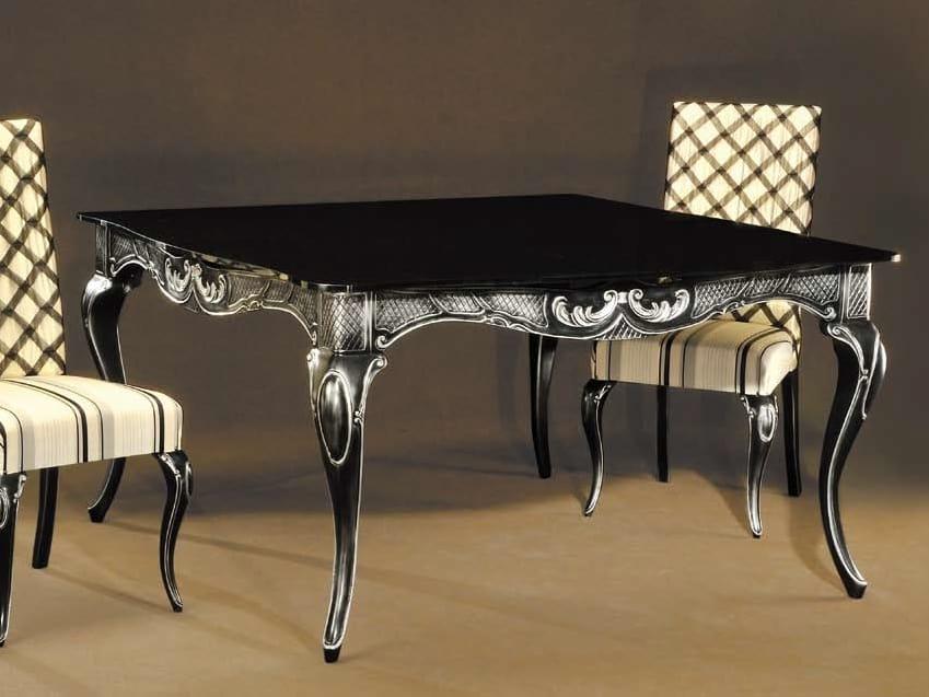 Ester tavolo, Elegante tavolo in legno laccato nero
