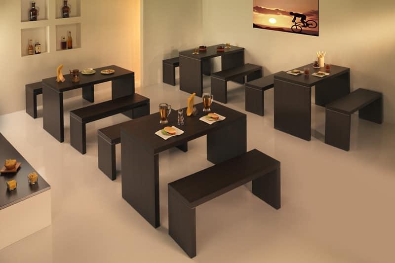 Tavoli tavoli moderni legno idf for Tavoli per sala da pranzo legno