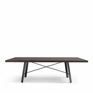 Hermitage tavolo, Tavolo rettangolare in legno adatto per sala da pranzo moderna