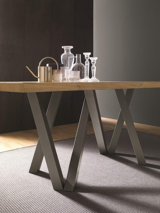 Tavolo da pranzo in legno e metallo | IDFdesign