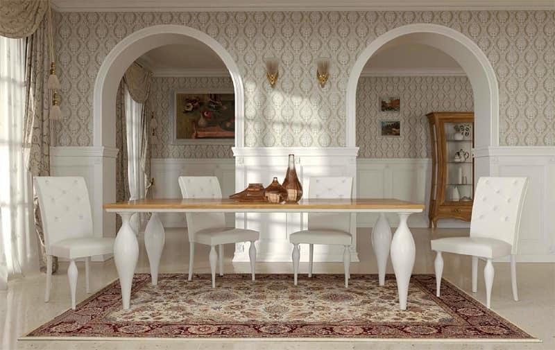 Tavolo art deco tavolo classico contemporaneo tavoli da for Tavoli da pranzo in legno
