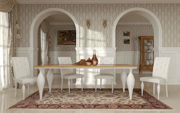 Tavolo Art Deco, Tavolo classico contemporaneo, Tavoli da pranzo in legno - La Dolce Vita ...