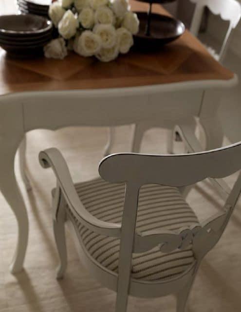 Tavolo con piano intarsiato, per sala da pranzo  IDFdesign