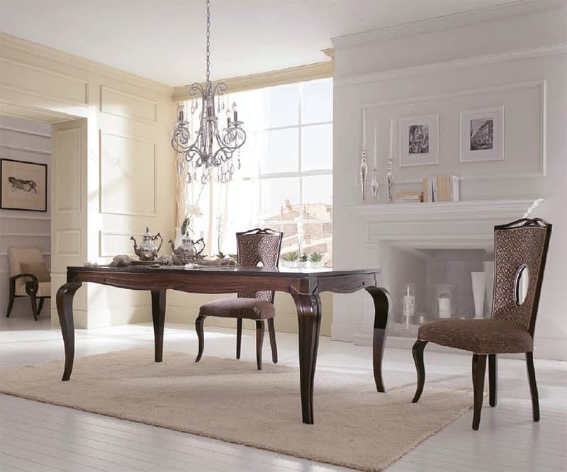 Tavolo classico tavolo da pranzo tavolo in legno decorato a bassorilievo sala ristorante sala - Tavolo sala da pranzo ...