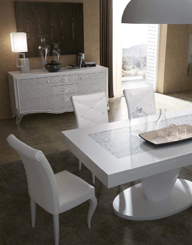 Tavoli pranzo legno tavolo legno laccato tavoli di lusso sala da pranzo idfdesign - Tavoli da pranzo design ...