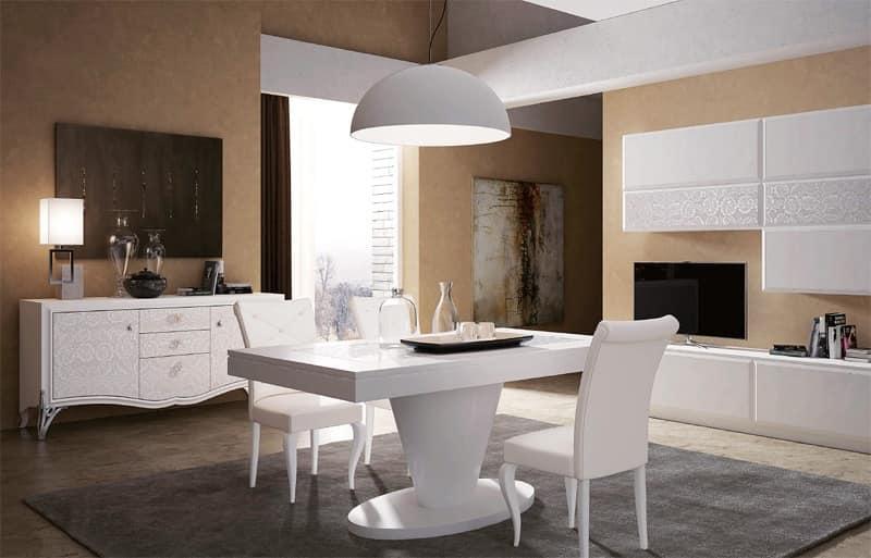 Tavoli pranzo legno tavolo legno laccato tavoli di lusso sala da pranzo idfdesign - Tavolo sala da pranzo ...