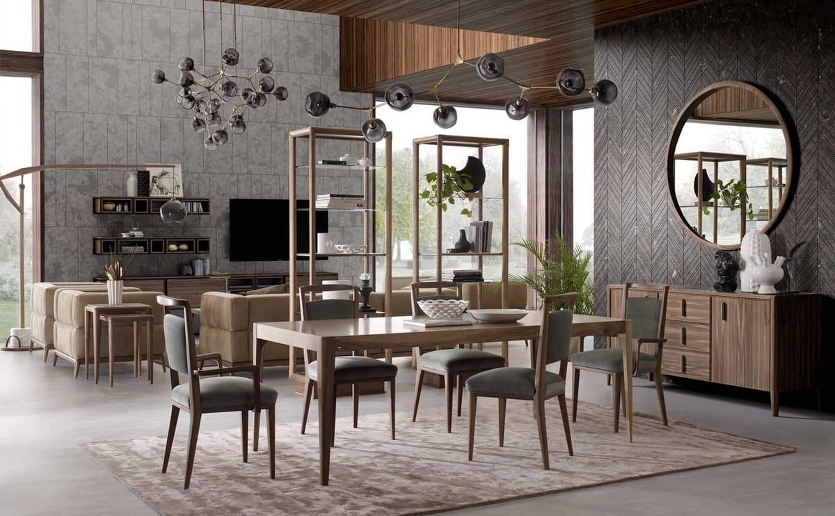 Tavoli Da Pranzo Design : Tavolo da pranzo in legno dal design minimale idfdesign