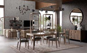 Sunrise tavolo, Tavolo da pranzo in legno dal design minimale