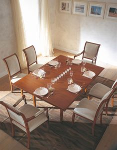 Villa Borghese tavolo da pranzo 3374, Tavolo da pranzo stile Directoire, con piano girevole