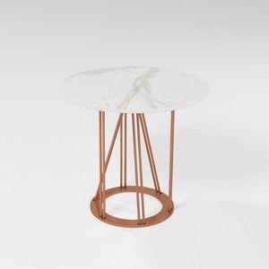 Cebreiro, Tavolino con base in ferro e piano tondo