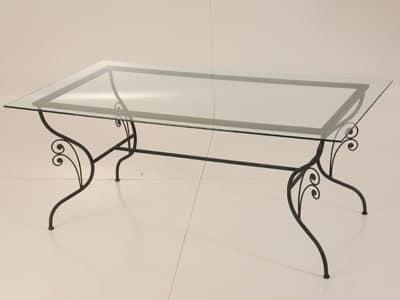 Tavolo decorato grazia - Tavolo ferro battuto ...