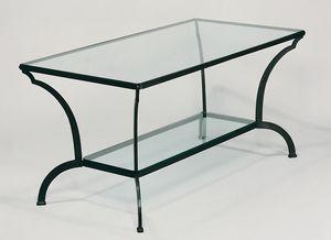 ARCHI GF4013TA, Tavolo da esterno, in ferro e cristallo