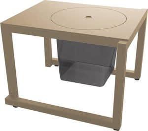 Bristol - TS, Tavolino di servizio per esterni, tavolino in metallo per giardini