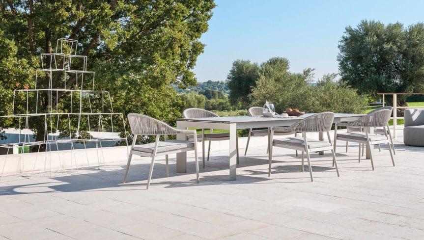 Tavoli Allungabili In Alluminio.Tavolo Allungabile In Alluminio Per Esterno Idfdesign