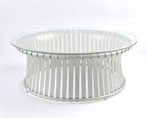 MOLLE GF4001CT-L, Tavolo in ferro con piano in cristallo