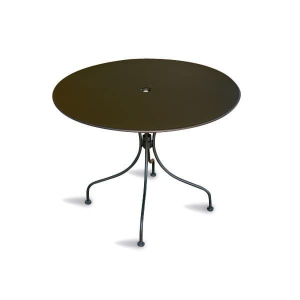 Tavolo rotondo in metallo verniciato per l 39 esterno for Tavolo rotondo esterno